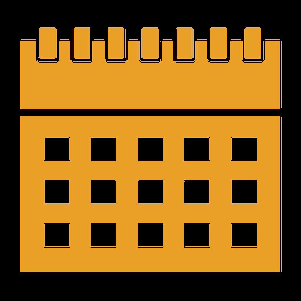 Yellow calendar icon