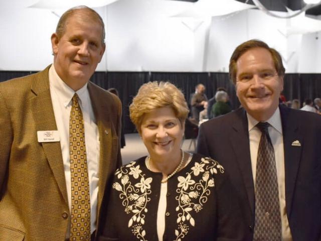 Bullitt County Chamber of Commerce 2018 Annual Awards Dinner attendees smiling at camera