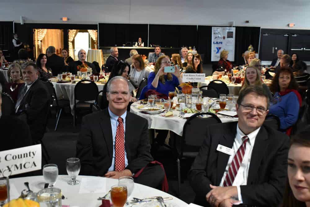 Congressman Brett Guthrie smiles at camera during 2018 Bullitt County Chamber of Commerce Annual Dinner
