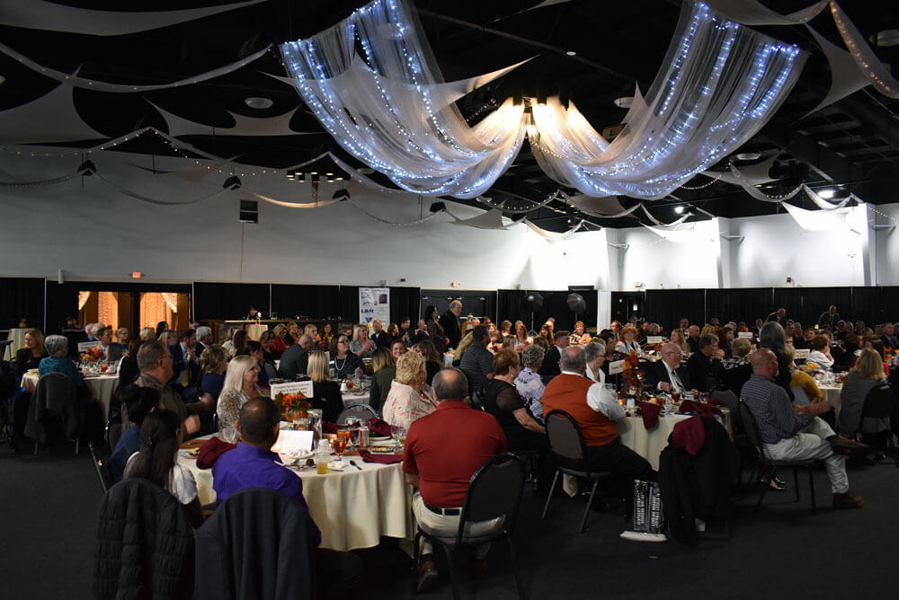 Large crowd of attendees at the 2018 Bullitt County Chamber of Commerce Annual Awards Dinner