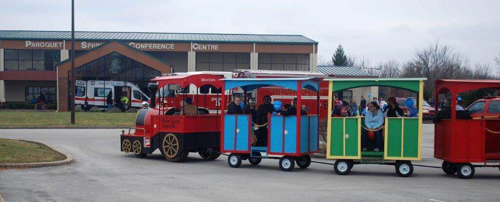 2019 KidsFest - City of Hillview's 'Hillview Express' train giving ride to children and their parents