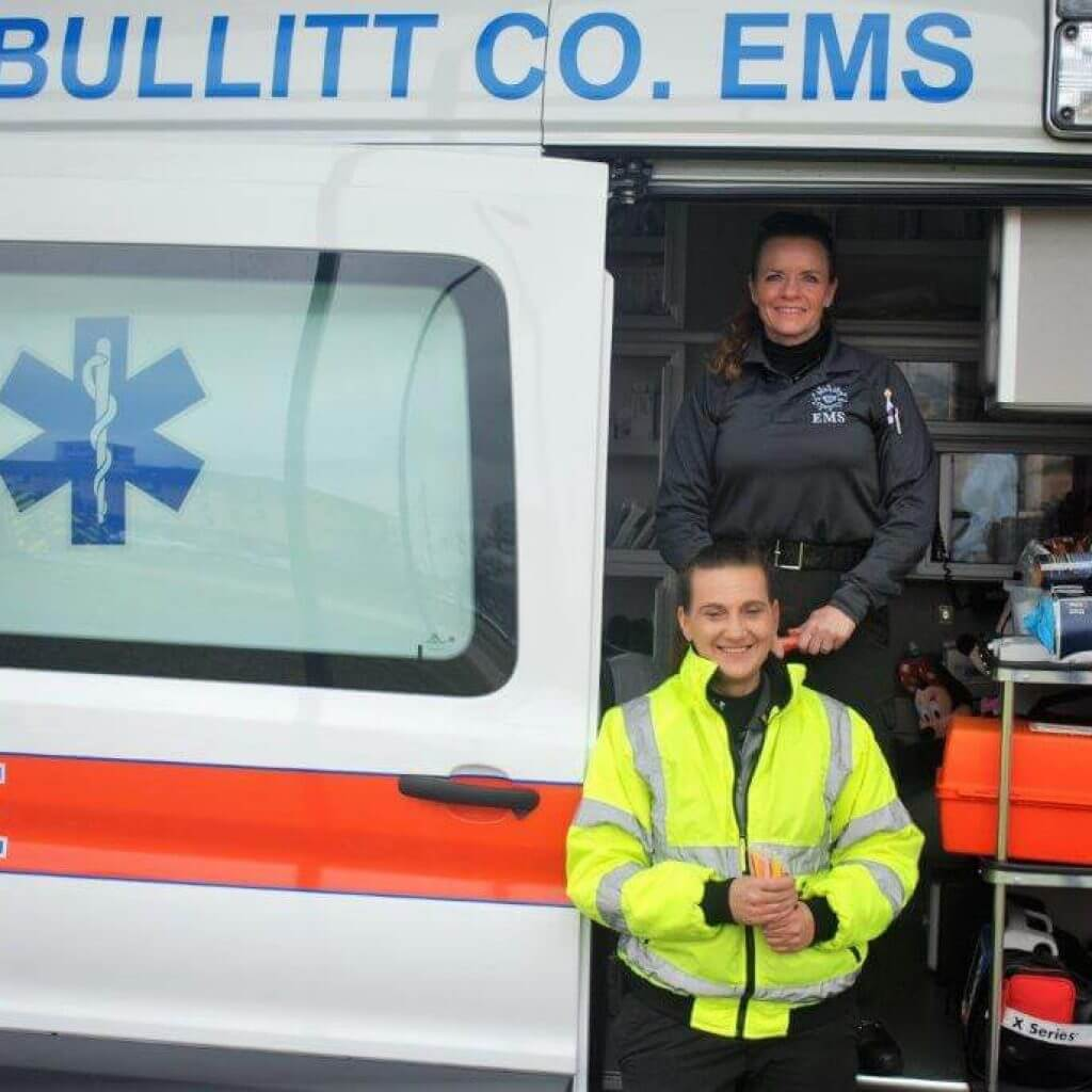 2019 KidsFest - Bullitt County EMS poses with one of their ambulances