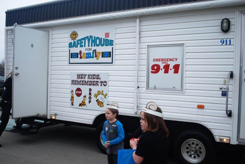 2019 KidsFest - Children explore the Fire Safety House provided by the Zoneton Fire Department